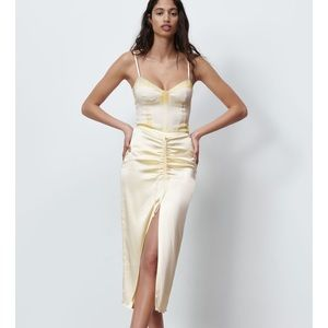 NWT ZARA Tie Dye Bodysuit Satin Blogger Favorite L